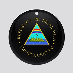 Coat of Arms of Nicaragua Ornament (Round)