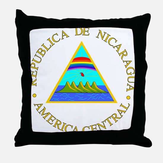 Nicaragua Coat of Arms Throw Pillow