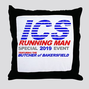 ICS Running Man Retro Throw Pillow