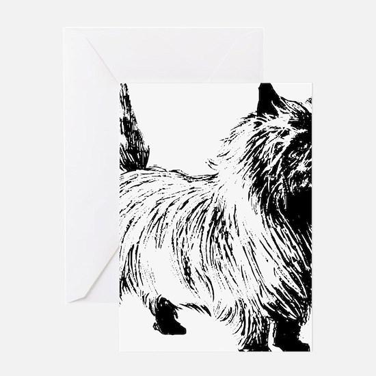 Cute Cairn terrier design Greeting Card