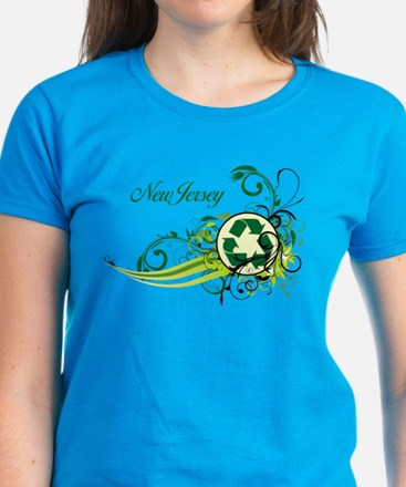 New Jersey Recycle T-Shirts and Gifts Women's Dark