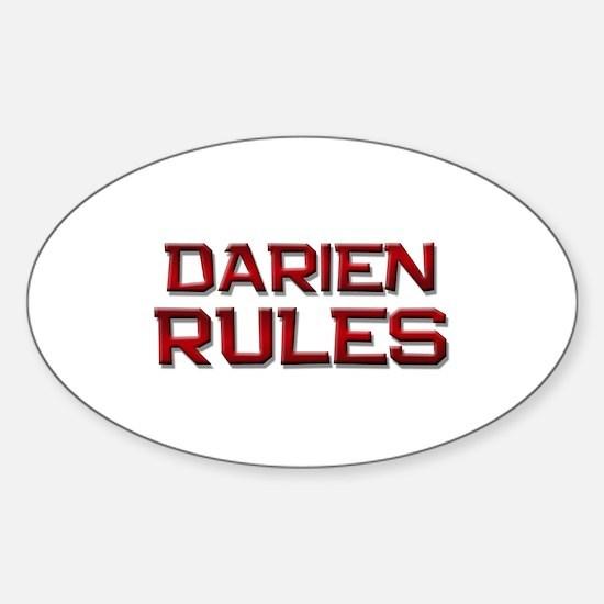 darien rules Oval Decal