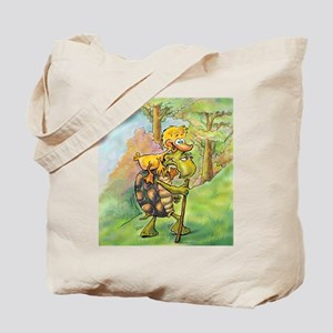 Uphill with Tortoise Tote Bag