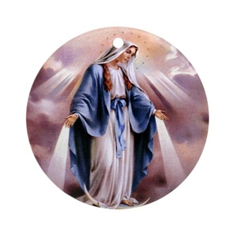 Holy Mother Mary Ornament (Round)
