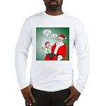 Santa and Bitcoins Long Sleeve T-Shirt