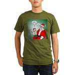 Santa and Bitcoins Organic Men's T-Shirt (dark)