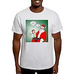 Santa and Bitcoins Light T-Shirt