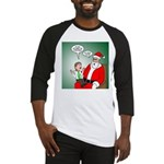 Santa and Bitcoins Baseball Tee