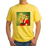 Santa and Bitcoins Yellow T-Shirt