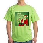 Santa and Bitcoins Green T-Shirt