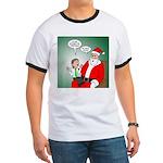 Santa and Bitcoins Ringer T
