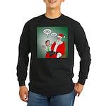 Santa and Bitcoins Long Sleeve Dark T-Shirt