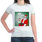 Santa and Bitcoins Jr. Ringer T-Shirt