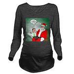 Santa and Bitcoins Long Sleeve Maternity T-Shirt