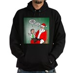 Santa and Bitcoins Hoodie (dark)