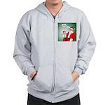 Santa and Bitcoins Zip Hoodie