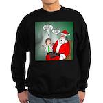 Santa and Bitcoins Sweatshirt (dark)