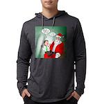 Santa and Bitcoins Mens Hooded Shirt