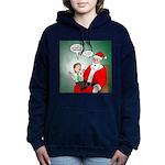 Santa and Bitcoins Women's Hooded Sweatshirt