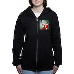 Santa and Bitcoins Women's Zip Hoodie