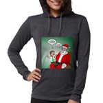 Santa and Bitcoins Womens Hooded Shirt