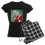Santa and Bitcoins Women's Dark Pajamas