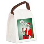 Santa and Bitcoins Canvas Lunch Bag