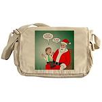 Santa and Bitcoins Messenger Bag