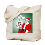 Santa and Bitcoins Tote Bag