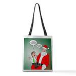 Santa and Bitcoins Polyester Tote Bag