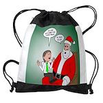 Santa and Bitcoins Drawstring Bag