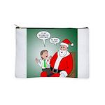 Santa and Bitcoins Makeup Bag