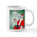 Santa and Bitcoins 11 oz Ceramic Mug