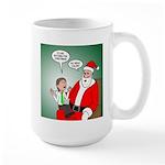 Santa and Bitcoins 15 oz Ceramic Large Mug