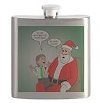 Santa and Bitcoins Flask