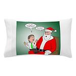 Santa and Bitcoins Pillow Case