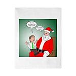 Santa and Bitcoins Twin Duvet Cover