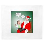 Santa and Bitcoins King Duvet