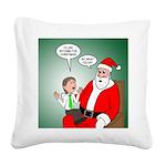 Santa and Bitcoins Square Canvas Pillow