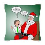 Santa and Bitcoins Woven Throw Pillow