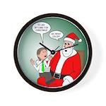 Santa and Bitcoins Wall Clock