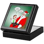 Santa and Bitcoins Keepsake Box