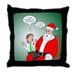 Santa and Bitcoins Throw Pillow