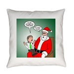 Santa and Bitcoins Everyday Pillow