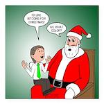 Santa and Bitcoins Square Car Magnet 3