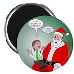 Santa and Bitcoins Magnet