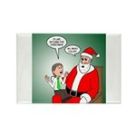 Santa and Bitcoins Rectangle Magnet (100 pack)