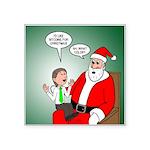 Santa and Bitcoins Square Sticker 3
