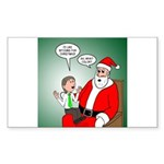Santa and Bitcoins Sticker (Rectangle)