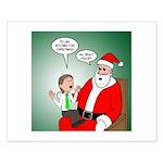 Santa and Bitcoins Small Poster